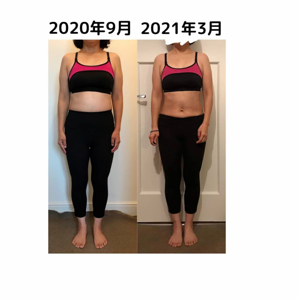 workout beforeafter6months front